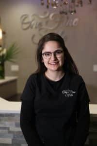 lady dentist in glasses