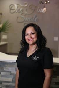 beautiful dentist in uniform
