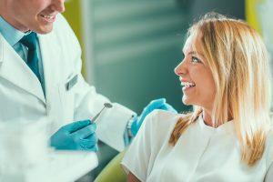 happy dental checkup