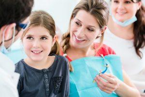 young girl dental checkup
