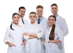 Group of dentist in uniform
